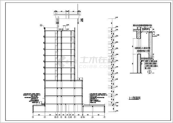 某地安置小高层建筑设计CAD施工图-图2