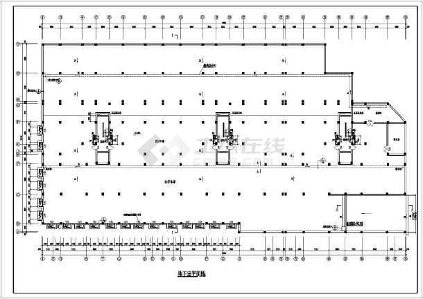 某地安置小高层建筑设计CAD施工图-图3