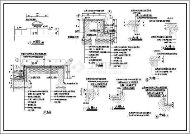 某广场公园景观旱喷园林cad设计施工图-图2