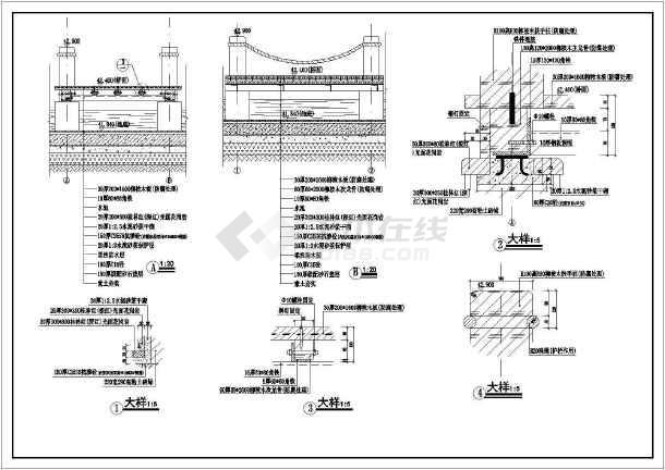 某广场公园景观旱喷园林cad设计施工图-图3