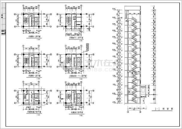 某地区板式小高层建筑设计CAD施工图纸-图1