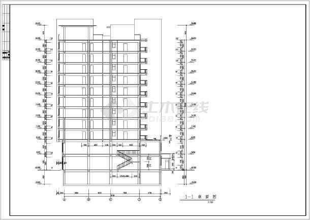 某地区板式小高层建筑设计CAD施工图纸-图2
