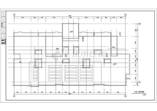 某地区板式小高层建筑设计CAD施工图纸-图3