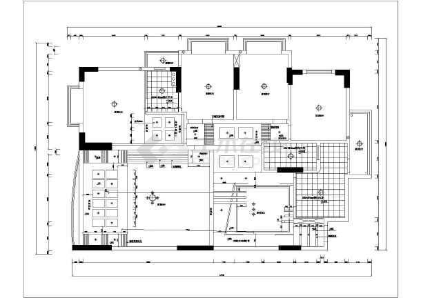 皇都苑雅居豪华装修cad全套设计施工户型图-图2