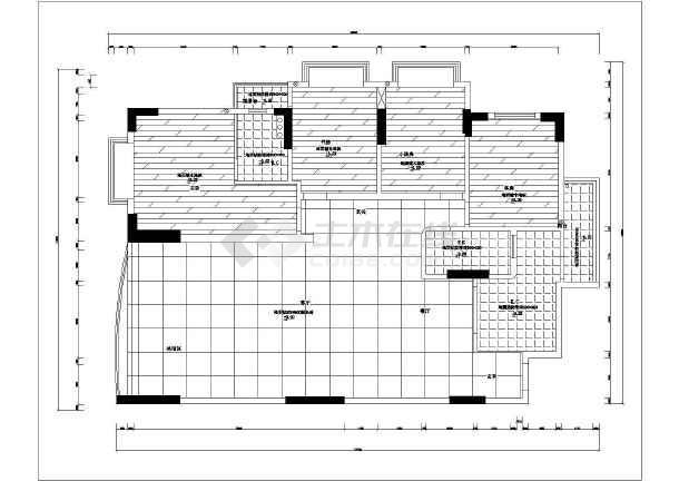 皇都苑雅居豪华装修cad全套设计施工户型图-图3