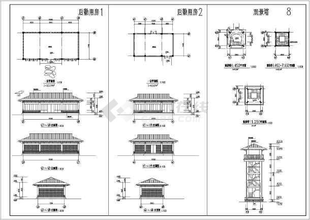 温泉浴场建筑施工全套方案cad设计图纸-图2