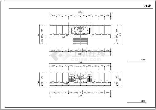 某地农村中学扩建工程施工图纸(全集)-图1