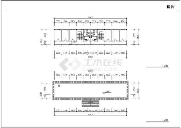 某地农村中学扩建工程施工图纸(全集)-图2