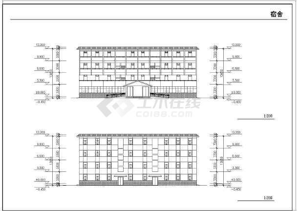 某地农村中学扩建工程施工图纸(全集)-图3