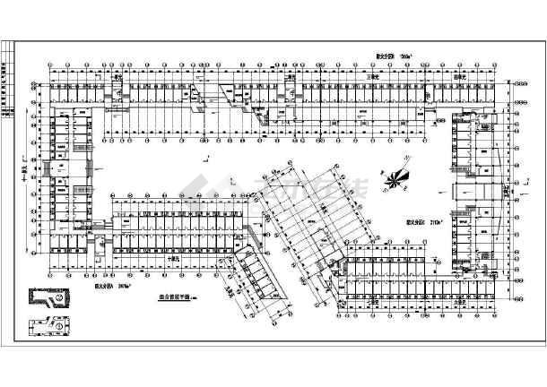 某学校学生宿舍楼建筑施工图纸(全集)-图1