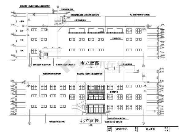 洗浴中心全套建筑施工方案cad设计图纸-图3