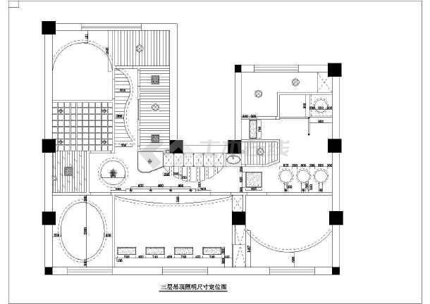 高档美容院全套室内装修cad施工图纸-图1