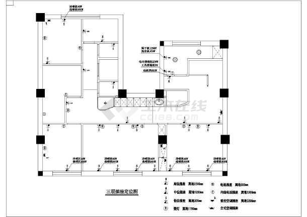 高档美容院全套室内装修cad施工图纸-图2