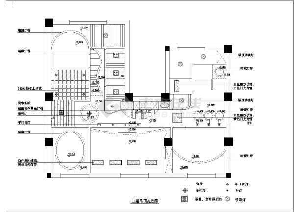 高档美容院全套室内装修cad施工图纸-图3