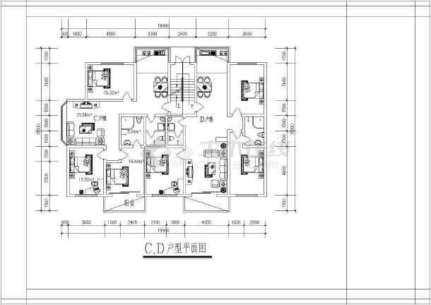 某市经典别墅建筑户型图集(全套)-图1