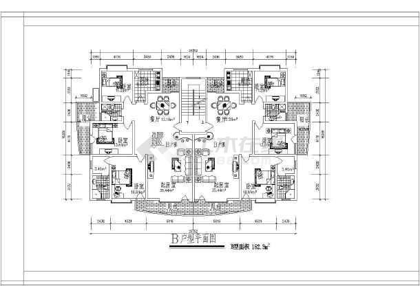 某市经典别墅建筑户型图集(全套)-图3