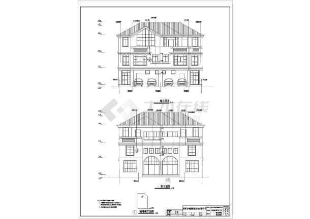 某16.3x15.8米别墅详细设计图-图1