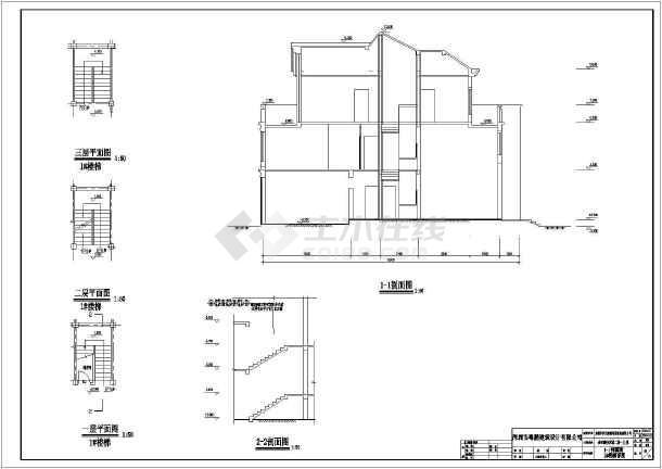 某16.3x15.8米别墅详细设计图-图2