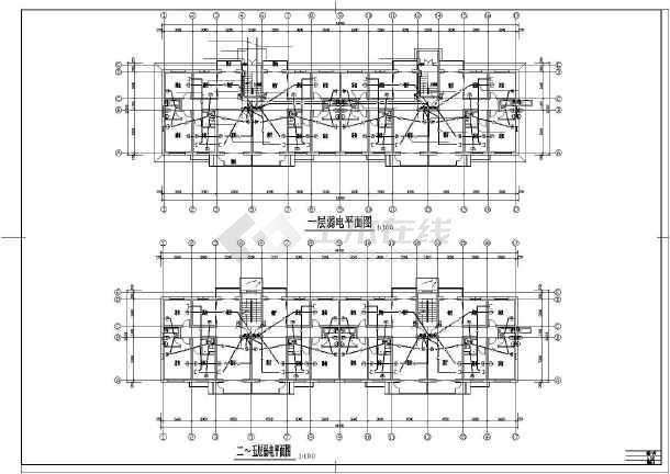 某住宅楼电气的完整cad施工图纸-图1