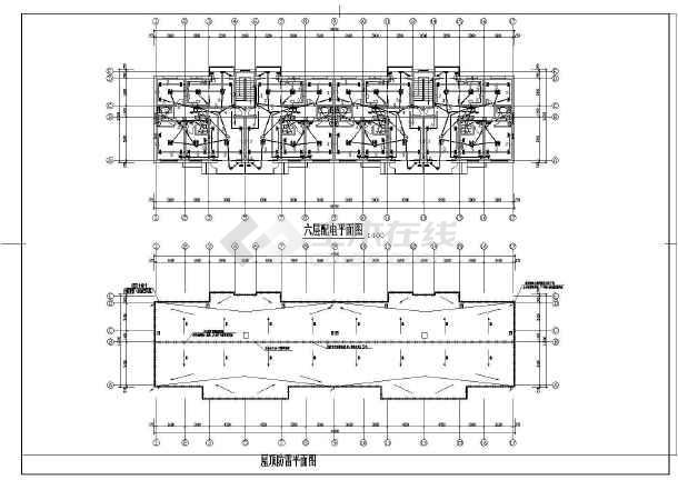 某住宅楼电气的完整cad施工图纸-图2