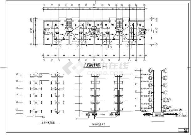 某住宅楼电气的完整cad施工图纸-图3