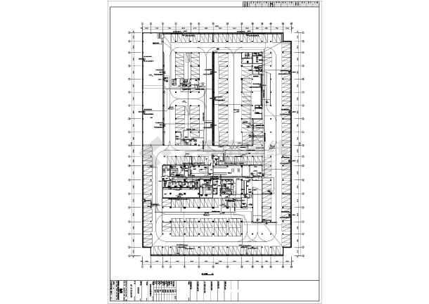 整套25层办公楼强电cad施工设计图纸-图2