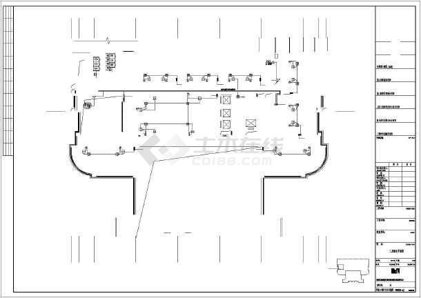整套25层办公楼强电cad施工设计图纸-图3