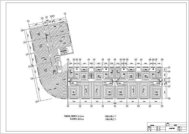五层大型商务楼地暖cad施工设计方案图例-图1