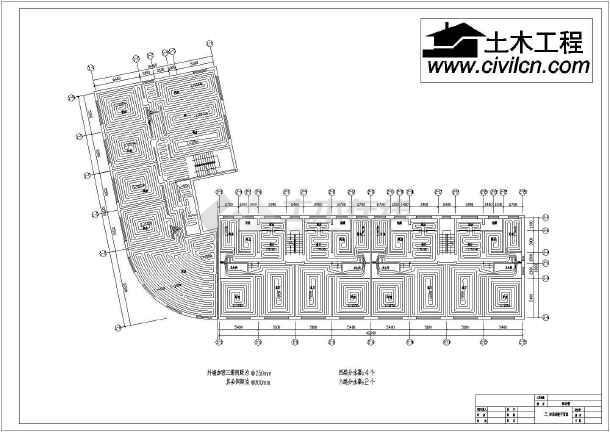五层大型商务楼地暖cad施工设计方案图例-图2