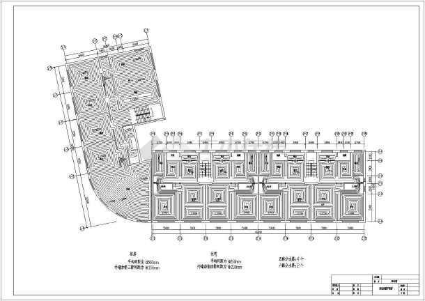 五层大型商务楼地暖cad施工设计方案图例-图3
