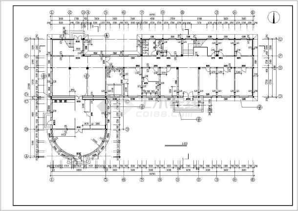 某市四层养老院建筑cad方案设计施工图图片