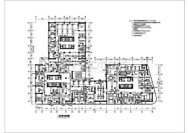 商住公寓中央空调系统cad施工设计图-图1