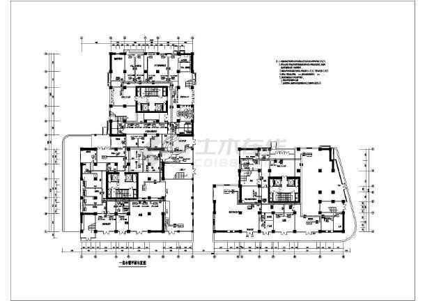 商住公寓中央空调系统cad施工设计图-图3