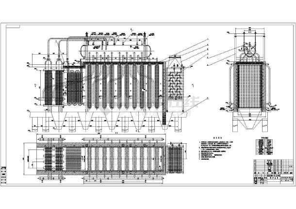 水泥窑余热锅炉cad设计施工图纸素材-图1