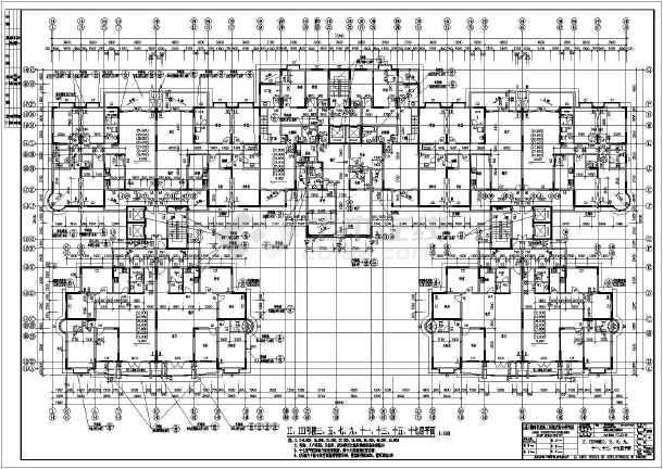 现代风格详细高层居住建筑CAD设计施工图-图1
