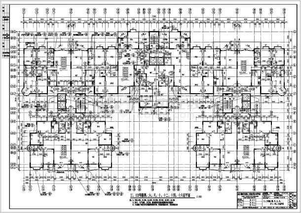 现代风格详细高层居住建筑CAD设计施工图-图2