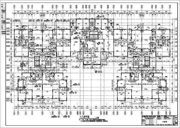 现代风格详细高层居住建筑CAD设计施工图-图3