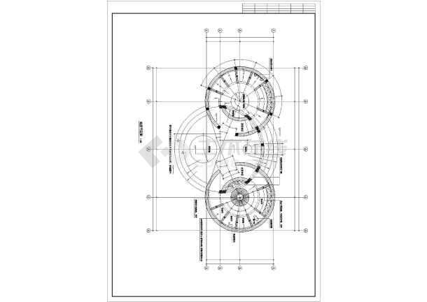 某高档洗浴室平立剖面建筑装修cad施工图纸-图1