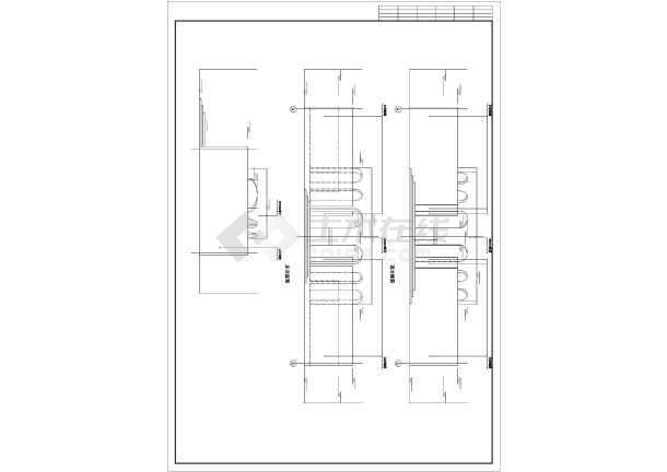 某高档洗浴室平立剖面建筑装修cad施工图纸-图2