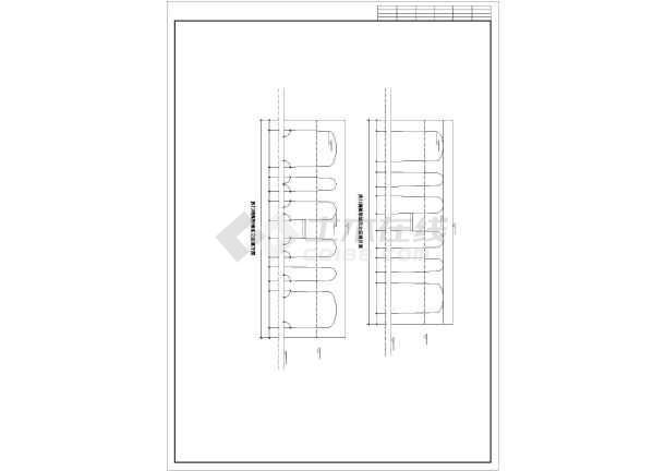 某高档洗浴室平立剖面建筑装修cad施工图纸-图3