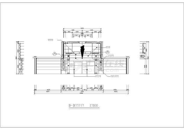 某高层住宅楼门厅室内装修cad大样图纸-图3