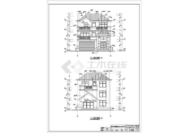 某19.4x10.5米别墅建筑设计图-图1