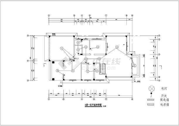 某19.4x10.5米别墅建筑设计图-图2