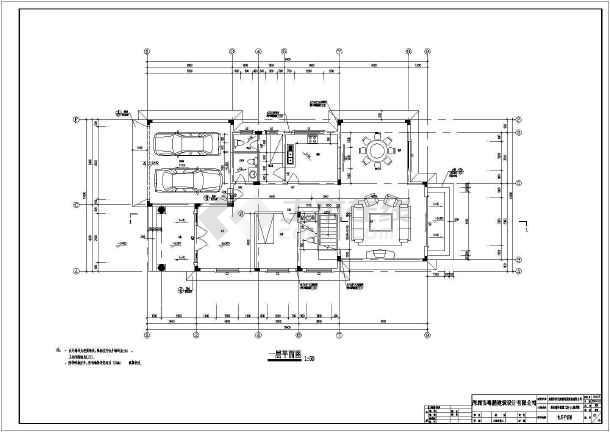 某19.4x10.5米别墅建筑设计图-图3