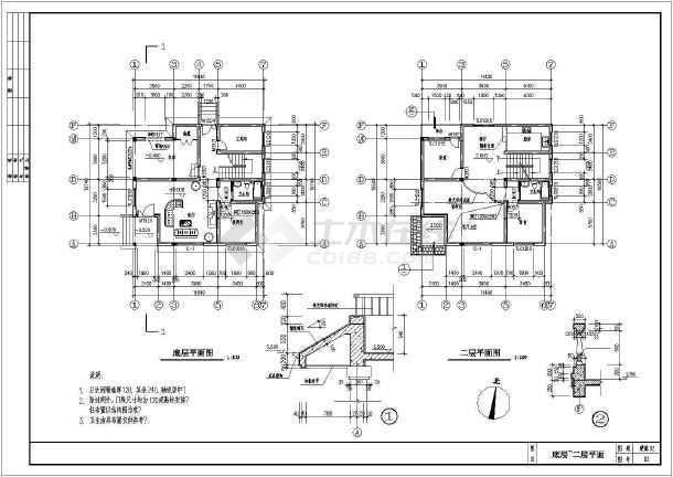 某11.64x10.74米新型小别墅建筑平面图-图1