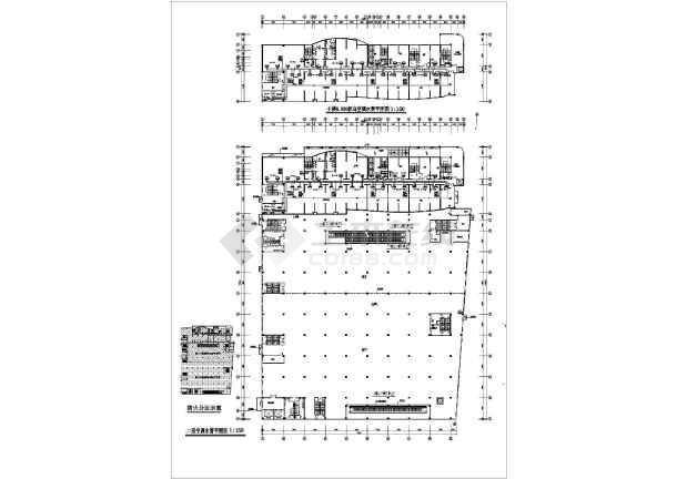 石家庄银座大厦商场整套空调设计cad施工图纸素材-图1