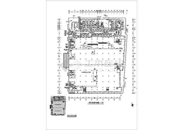 石家庄银座大厦商场整套空调设计cad施工图纸素材-图3