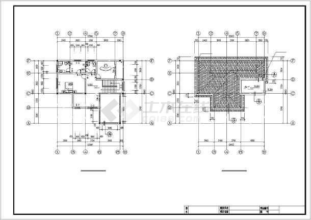 6×12米别墅建筑结构设计图