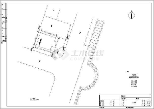 某坡屋顶别墅建筑施工图附带效果图-图2