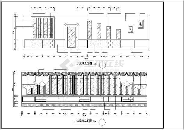 某二层茶楼室内装修cad施工图纸-图2